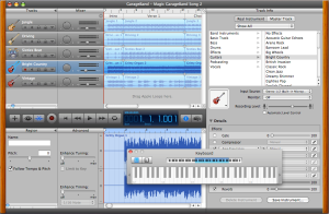 A complete multi-track recording studio with effects, podcasting and video soundtrack editing, Garage Band is part of the OS X Apple operating system