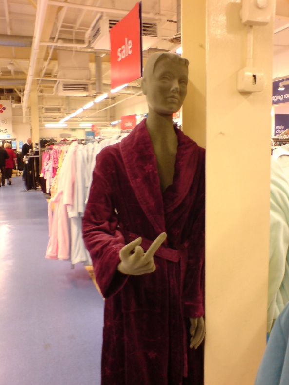 """""""You want this dressing gown?  You'll have to claw it from my cold dead hands"""""""