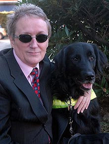 Alun Elder-Brown was barred from bringing his guide dog, Finn, into Kirthon Restaurant